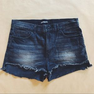 Disressed High Waisted Gray EXPRESS shorts